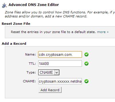 Cpanelde cdn için cname ekleme